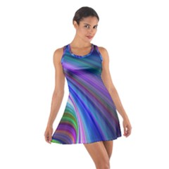 Background Abstract Curves Cotton Racerback Dress