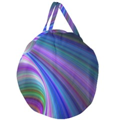 Background Abstract Curves Giant Round Zipper Tote