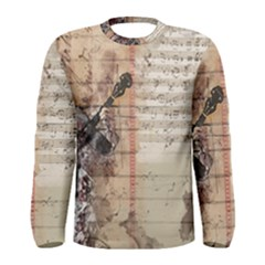 Art Collage Design Colorful Color Men s Long Sleeve Tee