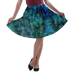 Color Abstract Background Textures A Line Skater Skirt