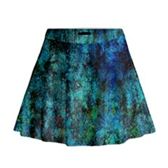 Color Abstract Background Textures Mini Flare Skirt