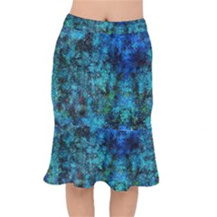 Color Abstract Background Textures Mermaid Skirt
