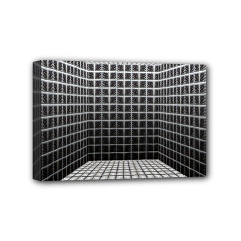 Space Glass Blocks Background Mini Canvas 6  X 4