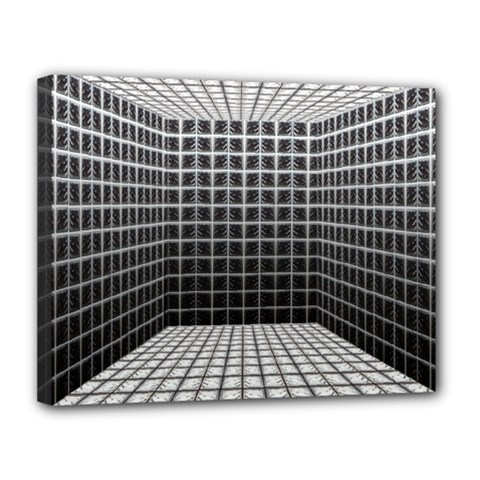 Space Glass Blocks Background Canvas 14  X 11
