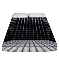 Space Glass Blocks Background Fitted Sheet (california King Size)