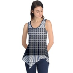 Space Glass Blocks Background Sleeveless Tunic