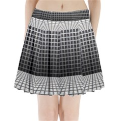 Space Glass Blocks Background Pleated Mini Skirt