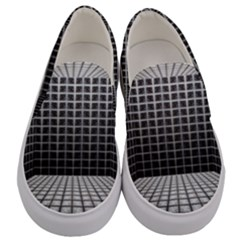 Space Glass Blocks Background Men s Canvas Slip Ons