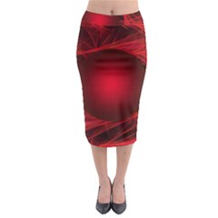 Abstract Scrawl Doodle Mess Midi Pencil Skirt