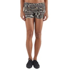Fabric Textile Abstract Pattern Yoga Shorts