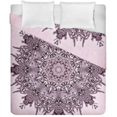 Mandala Pattern Fractal Duvet Cover Double Side (california King Size)