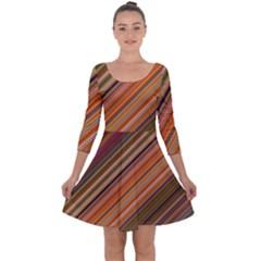 Background Texture Pattern Quarter Sleeve Skater Dress