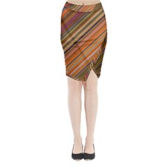 Background Texture Pattern Midi Wrap Pencil Skirt