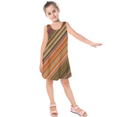 Background Texture Pattern Kids  Sleeveless Dress