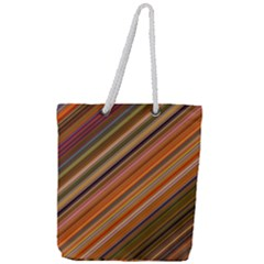 Background Texture Pattern Full Print Rope Handle Tote (large)
