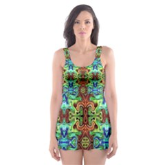 Artworkbypatrick1 C 4 Skater Dress Swimsuit