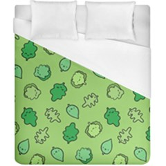 Funny Greens And Salad Duvet Cover (california King Size)