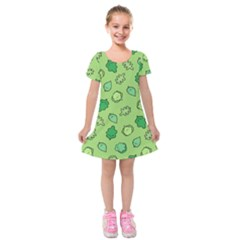 Funny Greens And Salad Kids  Short Sleeve Velvet Dress by Mishacat