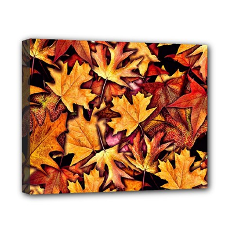Fall Leaves Pattern Canvas 10  X 8  by bloomingvinedesign