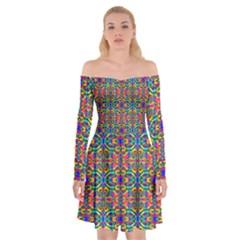 Artworkbypatrick1 C 5 Off Shoulder Skater Dress