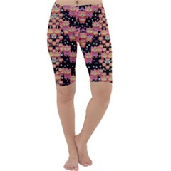 Fantasy Flower Ribbon And Happy Florals Festive Cropped Leggings