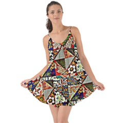 Patchwork Pattern Love The Sun Cover Up
