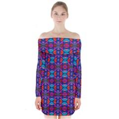 Artworkbypatrick1 C 6 Long Sleeve Off Shoulder Dress
