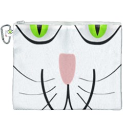 Cat Green Eyes Happy Animal Pet Canvas Cosmetic Bag (xxxl) by Sapixe