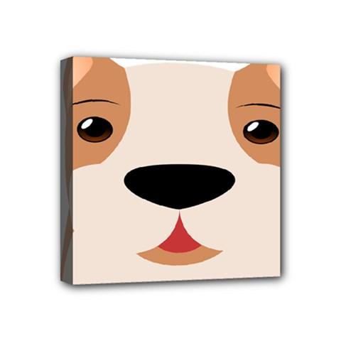Dog Animal Boxer Family House Pet Mini Canvas 4  X 4