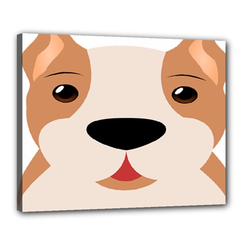 Dog Animal Boxer Family House Pet Canvas 20  X 16