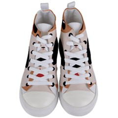 Dog Animal Boxer Family House Pet Women s Mid Top Canvas Sneakers
