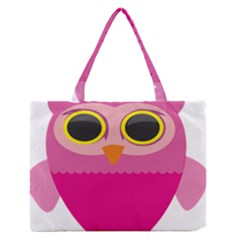 Sowa Owls Bird Wild Birds Pen Zipper Medium Tote Bag
