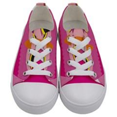 Sowa Owls Bird Wild Birds Pen Kids  Low Top Canvas Sneakers