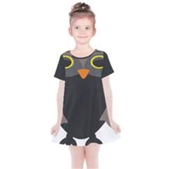 Sowa Owls Bird Wild Birds Pen Kids  Simple Cotton Dress