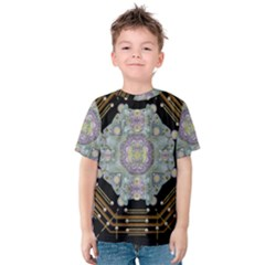 Butterflies And Flowers A In Romantic Universe Kids  Cotton Tee
