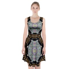 Butterflies And Flowers A In Romantic Universe Racerback Midi Dress
