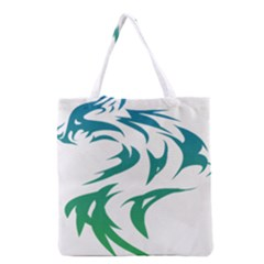 Wolf Dog Fox Animal Pet Vector Grocery Tote Bag by Sapixe