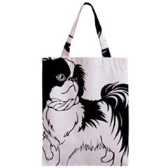 Animal Canine Dog Japanese Chin Zipper Classic Tote Bag