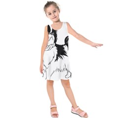 Animal Canine Dog Japanese Chin Kids  Sleeveless Dress