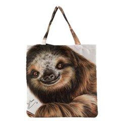 Sloth Smiles Grocery Tote Bag by ArtByThree