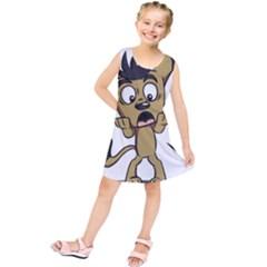 Animal Canine Cartoon Dog Pet Kids  Tunic Dress