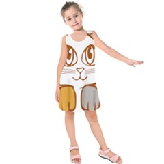 Animal Cat Feline Kitten Pet Kids  Sleeveless Dress