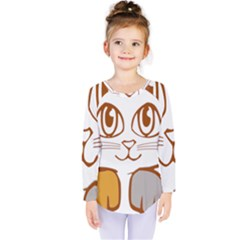 Animal Cat Feline Kitten Pet Kids  Long Sleeve Tee