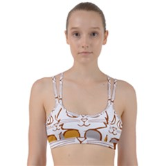 Animal Cat Feline Kitten Pet Line Them Up Sports Bra
