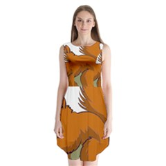 Squirrel Animal Pet Sleeveless Chiffon Dress
