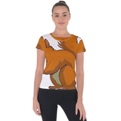 Squirrel Animal Pet Short Sleeve Sports Top