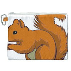 Squirrel Animal Pet Canvas Cosmetic Bag (xxl) by Sapixe