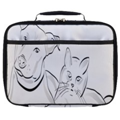 Dog Cat Pet Silhouette Animal Full Print Lunch Bag