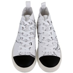 Dog Cat Pet Silhouette Animal Men s Mid Top Canvas Sneakers