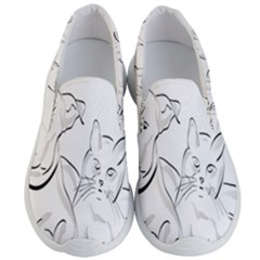 Dog Cat Pet Silhouette Animal Men s Lightweight Slip Ons